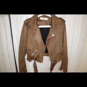 (Chic)Zara faux Suede Biker Jacket, Special price